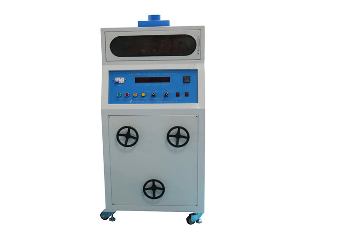 IEC60950 Flammability Testing Equipment / Heavy Current Ignition Tester Button Operation With Smoke Vent
